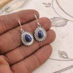 Pear-Lapis-Lazuli-Earrings-Drop-Earrings-925-Sterling-Silver-Dangle-Earrings-for-Womens-Gift-B07S4869N5