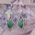 Pear-Malachite-Earrings-Drop-Earrings-925-Sterling-Silver-Dangle-Earrings-for-Womens-Gift-B07S358BL3