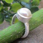 Pearl-Gemstone-925-Sterling-Silver-Ring-Handmade-Jewelry-B07L2V2ZSP