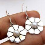 Pearl-Gemstone-Sterling-Silver-Dangle-Earrings-for-Women-and-Girls-Bezel-Set-Ear-Wire-Earrings-White-Bridesmaid-Earrin-B08K61NWR6-2