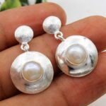 Pearl-Gemstone-Sterling-Silver-Dangle-Earrings-for-Women-and-Girls-Bezel-Set-Pushback-Earrings-White-Bridesmaid-Earrin-B08K62JP16