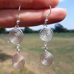 Plain-Silver-925-Sterling-Silver-Earrings-for-Mothers-Day-Gift-Celtic-Swirl-Dangling-Earrings-for-Gift-B07K1BSKX9