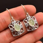 Prehnite-Gemstone-Sterling-Silver-Dangle-Earrings-for-Women-and-Girls-Bezel-Set-Ear-Wire-Earrings-Green-Bridesmaid-Ear-B08K62GR29