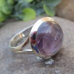Purple-Amethyst-Gemstone-925-Sterling-Silver-Ring-Handmade-Jewelry-B07L2W16M5