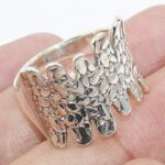 Python-Textured-925-Sterling-Silver-Statement-Ring-Jewelry-B07QN7RNYB
