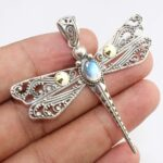 Rainbow-Moonstone-Dragonfly-925-Sterling-Silver-Pendant-B07JG62MNQ-2
