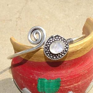 Moonstone Gemstone Cuff Bracelet