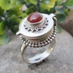 Red-Onyx-925-Sterling-Silver-Ring-Gemstone-Handmade-Jewelry-for-Women-Box-Ring-for-Gift-B07L2VJC78