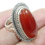 Red-Onyx-Cabochon-925-Sterling-Silver-Cocktail-Ring-Jewelry-B07QM9SJC5