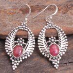 Ruby-Gemstone-Sterling-Silver-Dangle-Earrings-for-Women-and-Girls-Bezel-Set-Ear-Wire-Earrings-Red-Bridesmaid-Earrings-B08K63GWM3-2