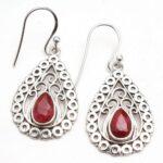 Ruby-Gemstone-Sterling-Silver-Drop-Earrings-for-Women-and-Girls-Bezel-Set-Ear-Wire-Earrings-Red-Bridesmaid-Earrings-B08K61VHRQ-2