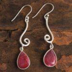 Ruby-Gemstone-Sterling-Silver-Drop-Earrings-for-Women-and-Girls-Bezel-Set-Ear-Wire-Earrings-Red-Bridesmaid-Earrings-B08K62YVYS