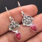 Ruby-Gemstone-Sterling-Silver-Drop-Earrings-for-Women-and-Girls-Bezel-Set-Ear-Wire-Earrings-Red-Bridesmaid-Earrings-B08K6589P2