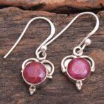Ruby-Gemstone-Sterling-Silver-Small-Dangle-Earrings-for-Women-and-Girls-Bezel-Set-Ear-Wire-Earrings-Red-Bridesmaid-Ear-B08K61CXK3-2