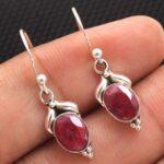 Ruby-Gemstone-Sterling-Silver-Small-Drop-Earrings-for-Women-and-Girls-Bezel-Set-Ear-Wire-Earrings-Red-Bridesmaid-Earri-B08K63497H-2