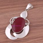 Ruby-Pendant-925-Sterling-Silver-Pendants-for-Womens-Oval-Gemstone-Pendants-Handmade-July-Birthstone-Pendants-Statem-B07V7Y6877