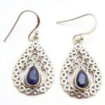 Sapphire-Gemstone-Sterling-Silver-Vintage-Drop-Earrings-for-Women-and-Girls-Bezel-Set-Ear-Wire-Earrings-Blue-Bridesmai-B08K62744H