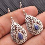 Sapphire-Gemstone-Sterling-Silver-Vintage-Drop-Earrings-for-Women-and-Girls-Bezel-Set-Ear-Wire-Earrings-Blue-Bridesmai-B08K62744H-2
