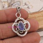 Sapphire-Pendant-925-Sterling-Silver-Pendants-for-Womens-Oval-Gemstone-Pendants-Handmade-September-Birthstone-Pendant-B07V2MQXTC