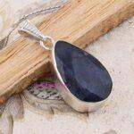 Sapphire-Pendant-925-Sterling-Silver-Pendants-for-Womens-Pear-Gemstone-Pendants-Handmade-September-Birthstone-Pendant-B07V4RRBBH