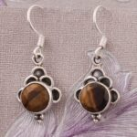 Silver-Earrings-for-Summer-Gift-Drop-Earrings-Oval-Tiger-Eye-Earrings-Dangle-Earrings-B07S23MHZH