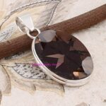 Smoky-Quartz-Pendant-925-Sterling-Silver-Pendants-for-Womens-Oval-Gemstone-Pendants-Handmade-Pendants-B07V6Y95Z8