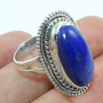 Solid-925-Sterling-Silver-Lapis-Lazuli-Cocktail-Ring-Jewelry-B07QPC3JBK