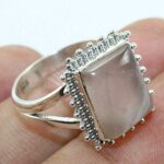 Solid-925-Sterling-Silver-Natural-Pink-Quartz-Ring-Jewelry-B07QQD68WD