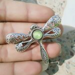 Solid-925-Sterling-Silver-Natural-Prehnite-Pendant-Butterfly-Pendant-Womens-Jewelry-B07RL19JGL