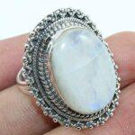 Solid-925-Sterling-Silver-Rainbow-Moonstone-Ring-Jewelry-B07QPBRDWB