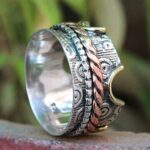 Solid-925-Sterling-Silver-Tri-Tone-Designer-Spinner-Ring-B07QPBQD7C