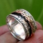 Solid-925-Sterling-Silver-Tri-Tone-Spinner-Band-Ring-B07L2VDN5R