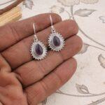 Sterling-Silver-Earrings-for-Summer-Gift-Dangle-Earrings-Pear-Amethyst-Earrings-Drop-Earrings-B07S35FXRD
