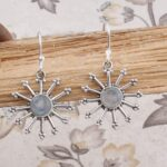 Sterling-Silver-Earrings-for-Summer-Gift-Dangle-Earrings-Round-Moonstone-Earring-Drop-Earrings-B07SR4529C-2