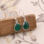 Sterling-Silver-Earrings-for-Women-Drop-Earrings-Pear-Green-Onyx-Earring-Dangle-Earrings-B07SRZTZ3H
