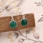 Sterling-Silver-Earrings-for-Women-Leaf-Drop-Earrings-Cushion-Green-Onyx-Earring-Dangle-Earrings-B07SQ2677T