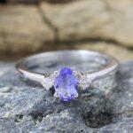 Tanzanite-Diamond-925-Sterling-Silver-Engagement-Ring-B07L2V7W6G