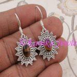 Tiger-Eye-Gemstone-Earrings-for-Women-Sterling-Silver-Earrings-Handmade-Earrings-B07T9SBKRB