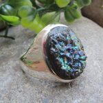 Titanium-Druzy-925-Sterling-Silver-Ring-Handmade-Jewelry-B07L2TDHT8