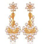 Traditional-Cubic-Zirconia-Gold-Vermeil-925-Silver-Chandelier-Earrings-B07TK22GNY