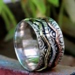 Tri-Tone-925-Sterling-Silver-Handmade-Spinner-Ring-B07L2TFZN3