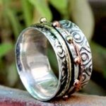 Tri-Tone-925-Sterling-Silver-Handmade-Spinner-Ring-B07L2VZXSD