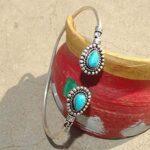 Turquoise-Cuff-BraceletSolid-925-Sterling-Silver-BraceletPear-Shape-BraceletBraceletGift-For-HerHandmade-Cuff-Brace-B084ZY2SS6