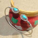 Turquoise-Cuff-BraceletSolid-925-Sterling-Silver-BraceletPear-Shape-BraceletBraceletGift-For-HerHandmade-Cuff-Brace-B084ZY2SS6-2