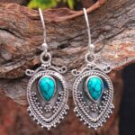 Turquoise-Gemstone-Sterling-Silver-Boho-Drop-Earrings-for-Women-and-Girls-Bezel-Set-Ear-Wire-Earrings-Turquoise-Brides-B08K5YWF75