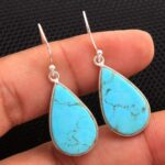 Turquoise-Gemstone-Sterling-Silver-Large-Drop-Earrings-for-Women-and-Girls-Bezel-Set-Ear-Wire-Earrings-Turquoise-Bride-B08K62YFXN