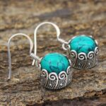 Turquoise-Gemstone-Sterling-Silver-Small-Dangle-Earrings-for-Women-and-Girls-Bezel-Set-Ear-Wire-Earrings-Turquoise-Bri-B08K61WCTL-2