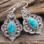 Turquoise-Gemstone-Sterling-Silver-Vintage-Dangle-Earrings-for-Women-and-Girls-Bezel-Set-Ear-Wire-Earrings-Turquoise-B-B08K62B2JG-2