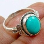 Turquoise-Solid-925-Sterling-Silver-Ring-Handcrafted-B07L2VDK76