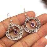 amethyst-Gemstone-Sterling-Silver-Boho-Dangle-Earrings-for-Women-and-Girls-Bezel-Set-Ear-Wire-Earrings-Purple-Bridesma-B08K66FMZV